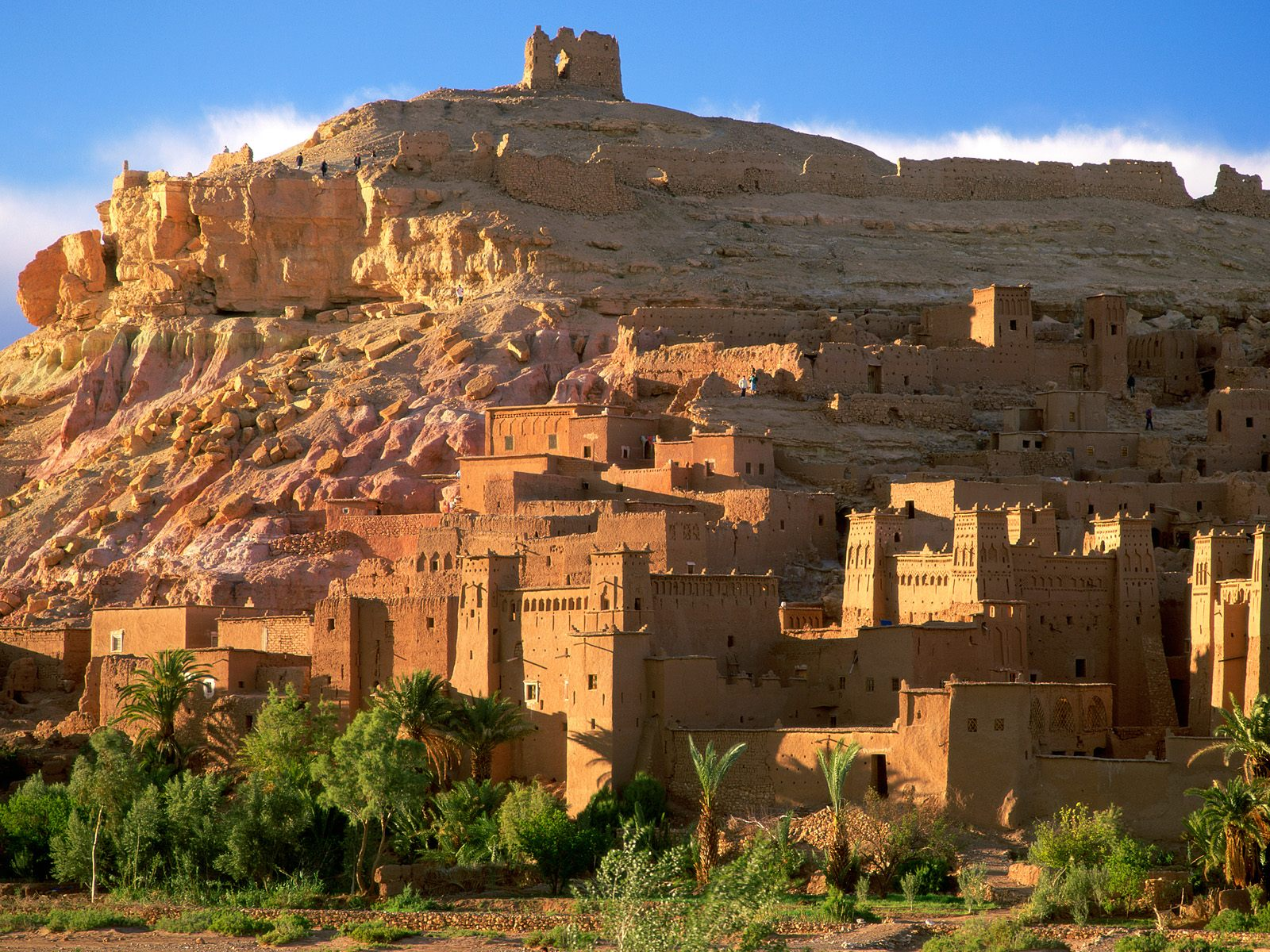 Kasbah-Ruins-Wallpaper-Ait-Benhaddou-Morocco-Africa-Free-desktop-wallpapers-download-16001200
