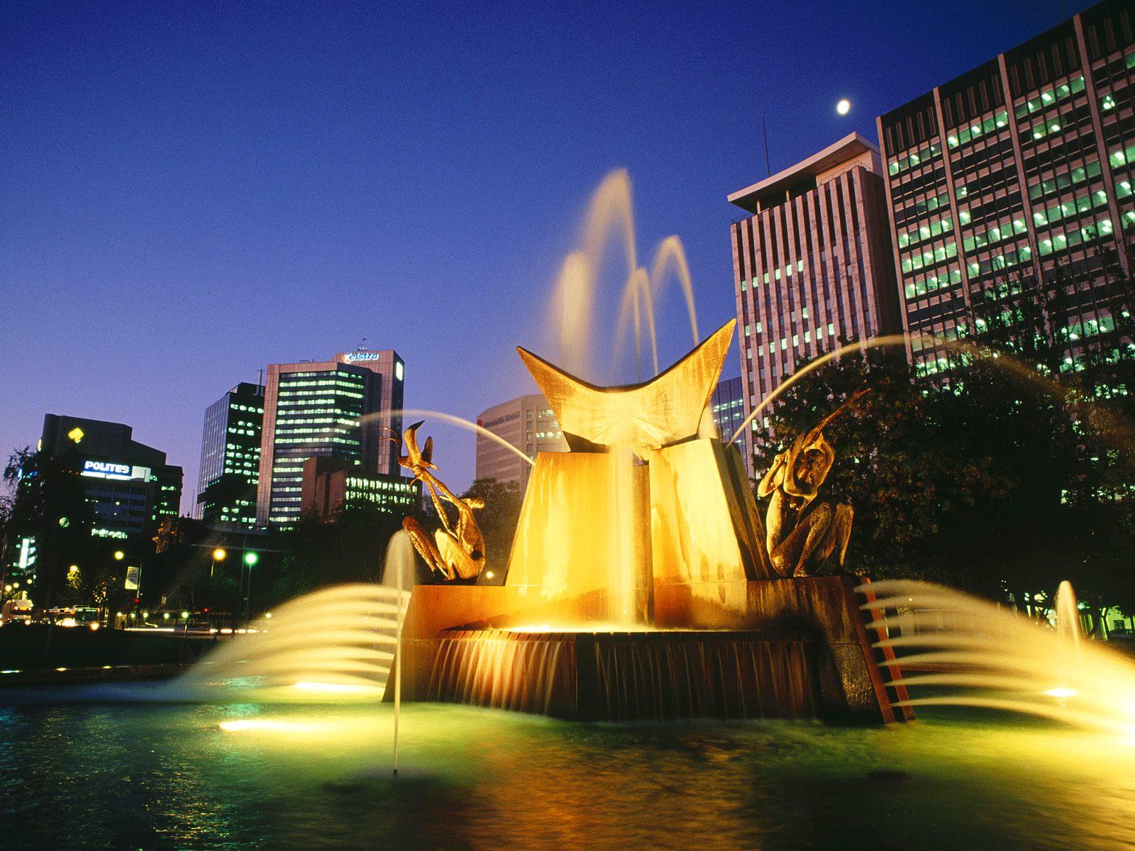 Victoria Square Fountain Adelaide Australia