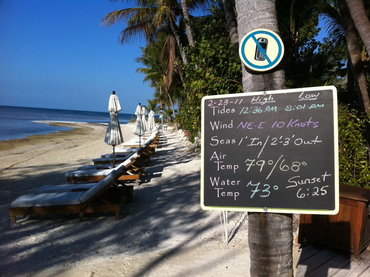 Weather report from Little Palm Island Resort