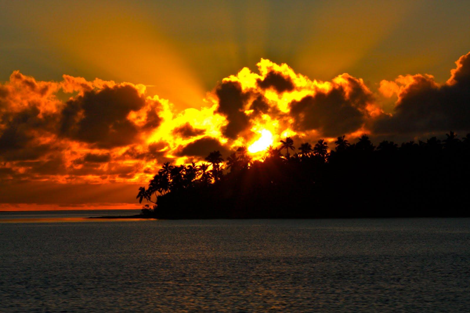 Tonga Islands in South Pacific Ocean