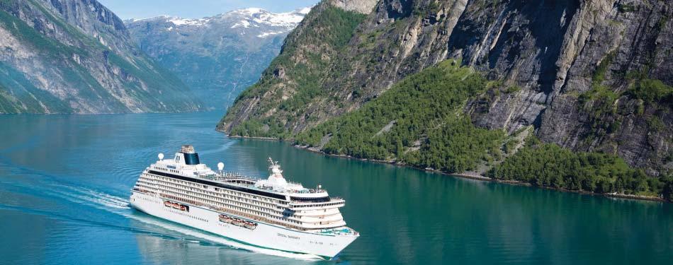 Cruising through the fjords of Geiranger