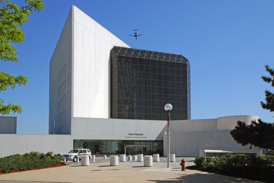 Exterior, John F. Kennedy Library, Boston, Massachusetts