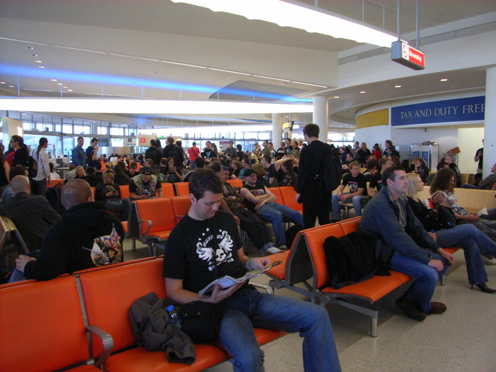 Crowded boarding area. By donutshead (Flickr)