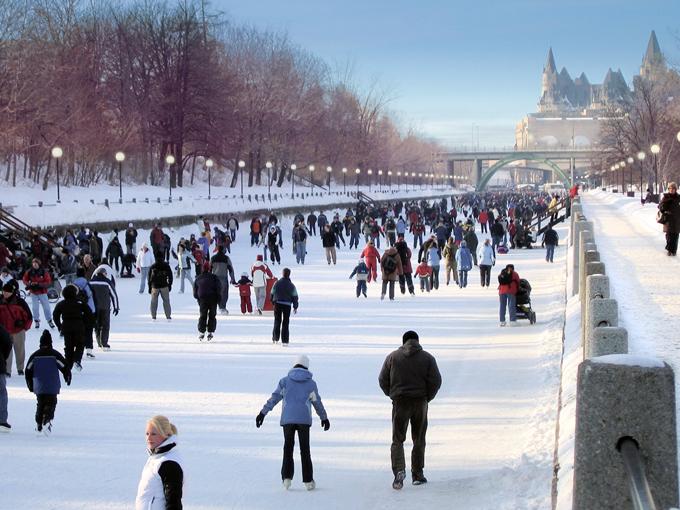 frozen canals Ottawa, Canada