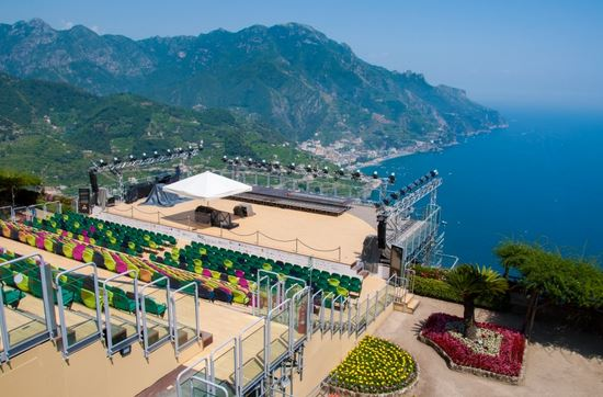 Outdoor concert stage in Ravello