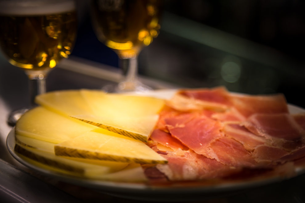 native spanish tapas jamon